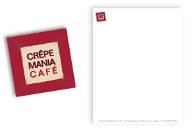 branding and identity crepe mania cafe